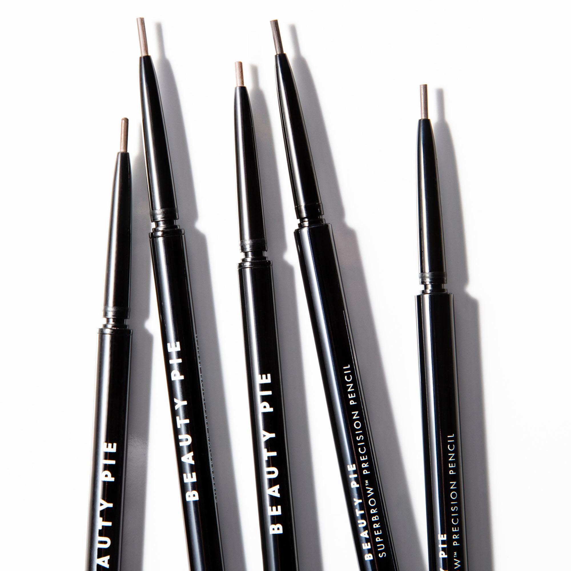 Five open Superbrow Luxe Precision Eyebrow pencils