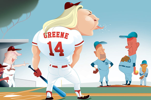 Democrats Swear It's Not Weird To Be Playing Baseball With Marjorie Taylor Greene
