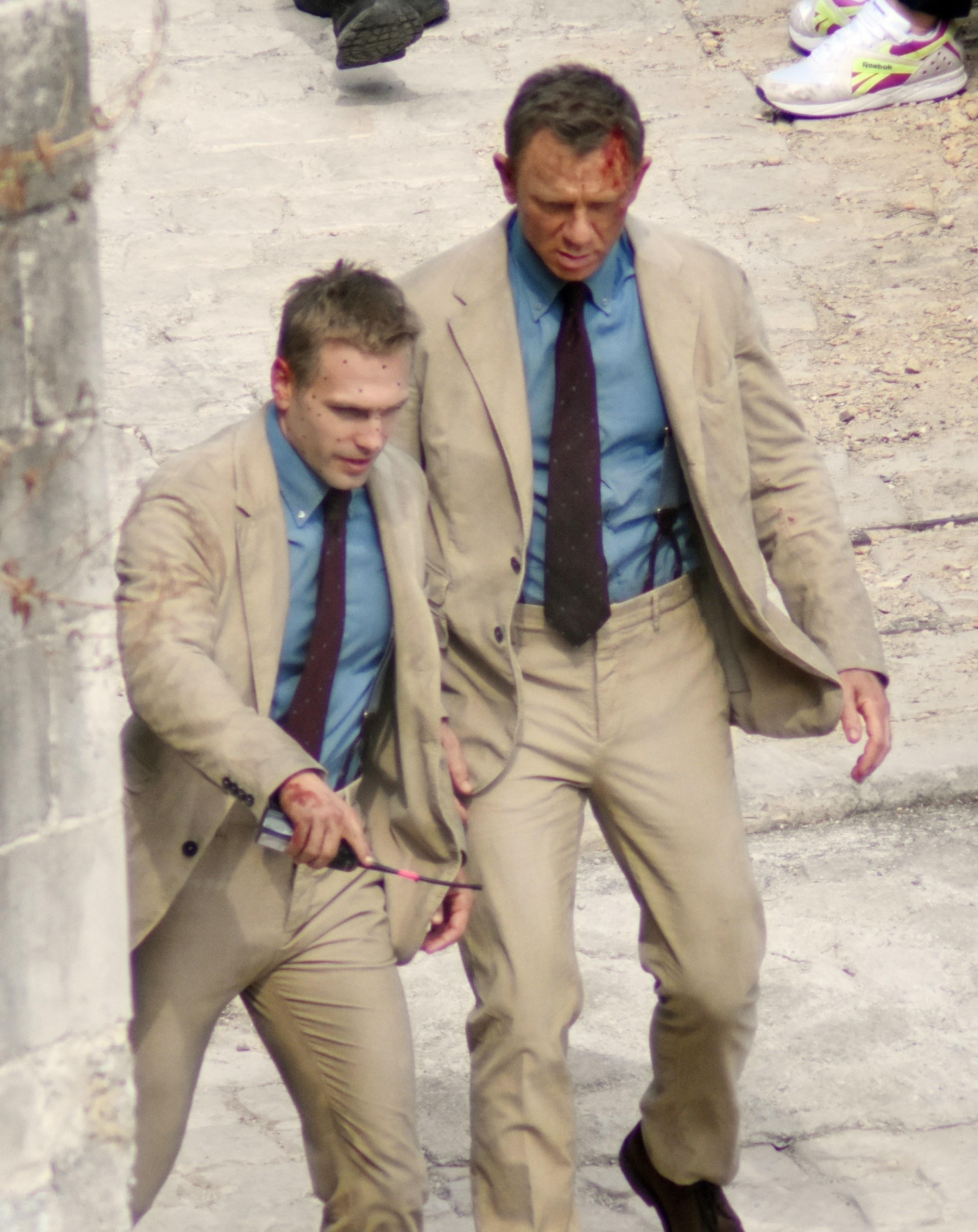 Daniel Craig and his stunt double