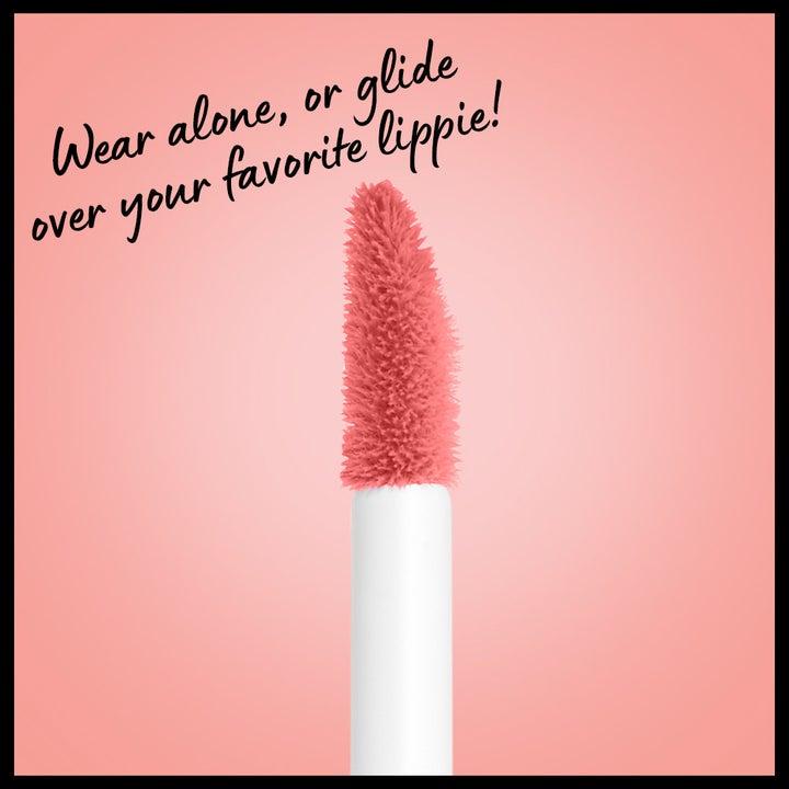 The lip gloss brush