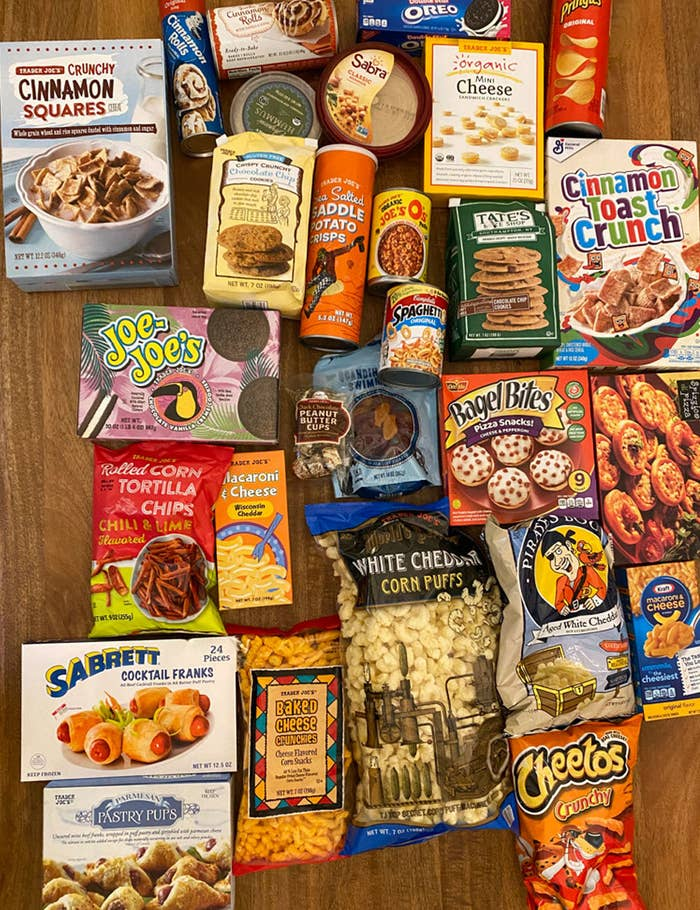 A bunch of Trader Joe's products vs. the name brand