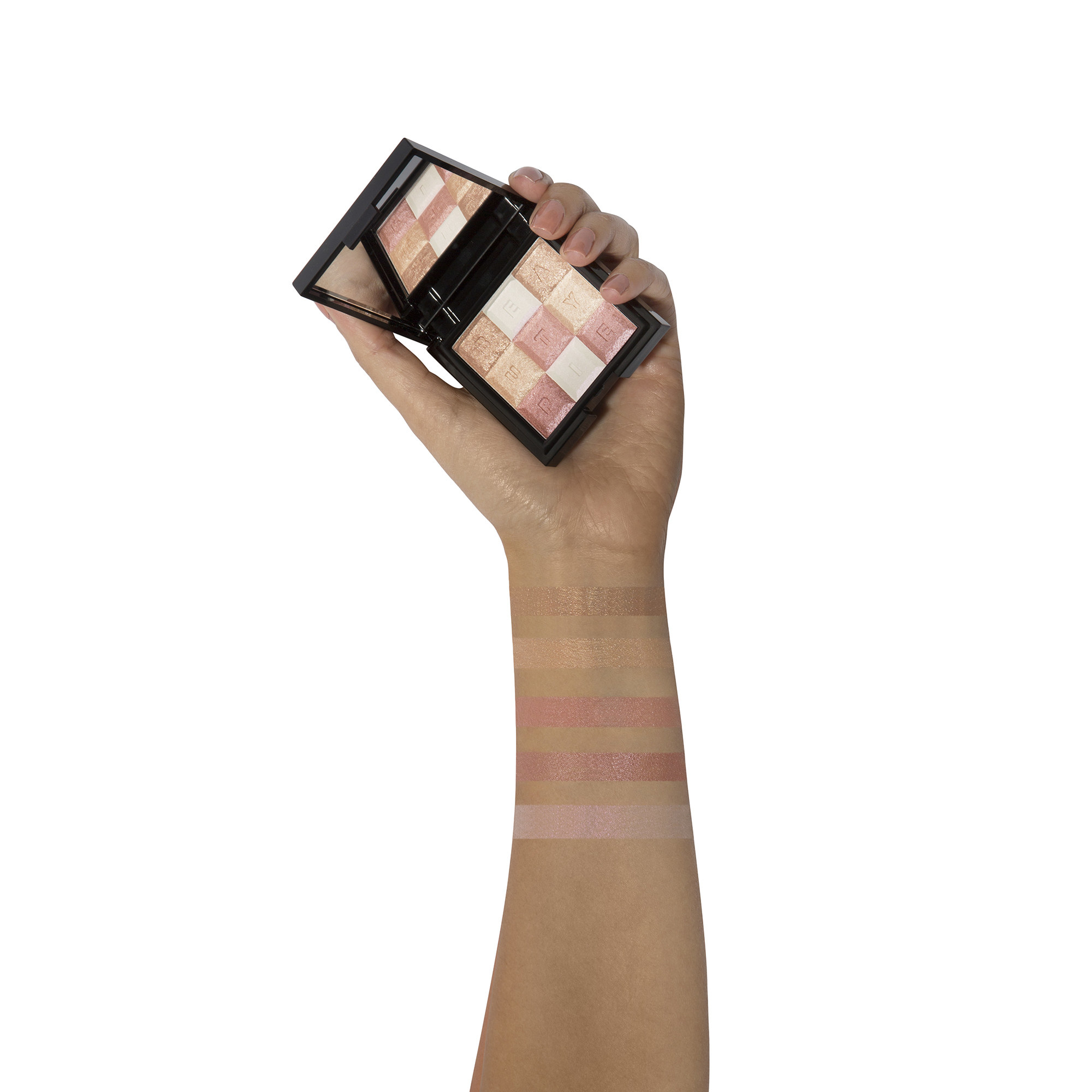 Shimmerbar Highlighter swatches on wrist