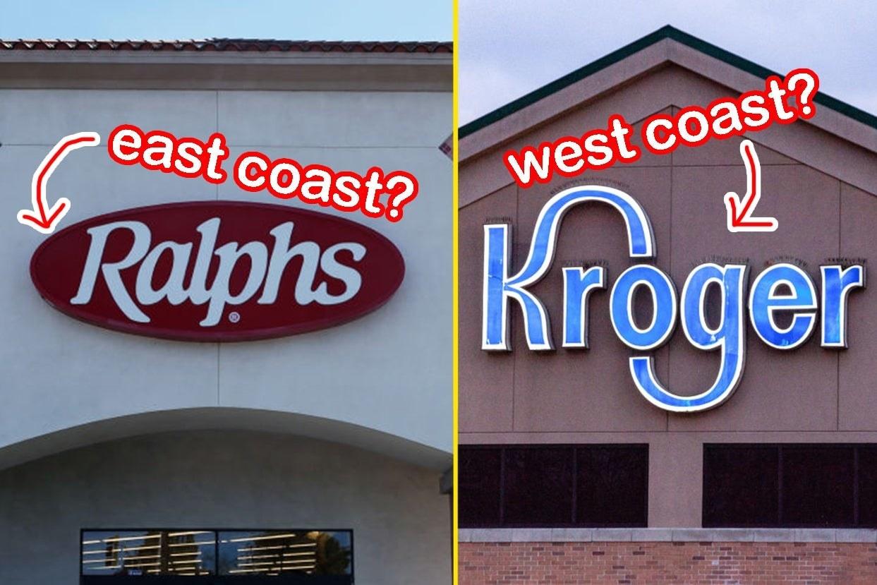 Ralphs on east coast and Kroger on west coast