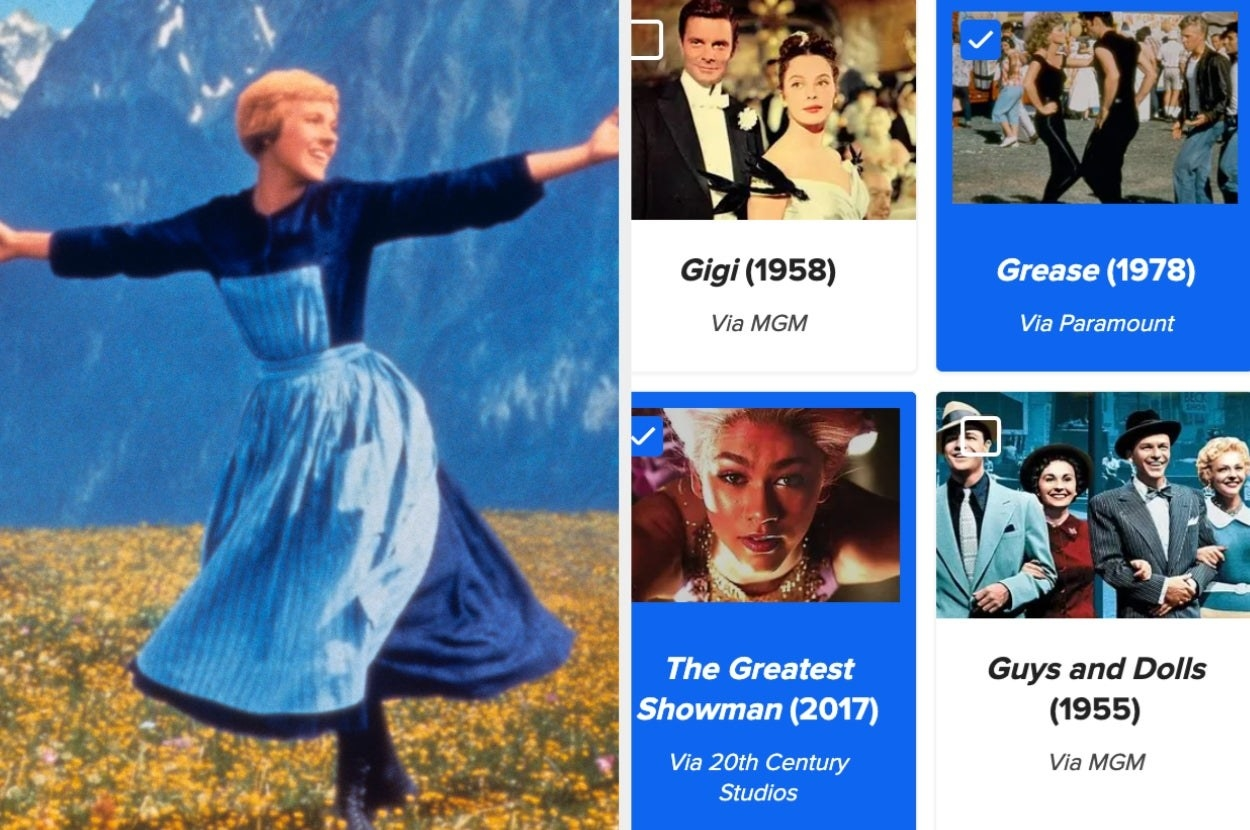 Sound of Music, Gigi, Grease, Greatest Showman, Guys and Dolls