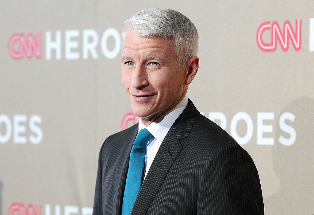 Anderson Cooper on a CNN red carpet