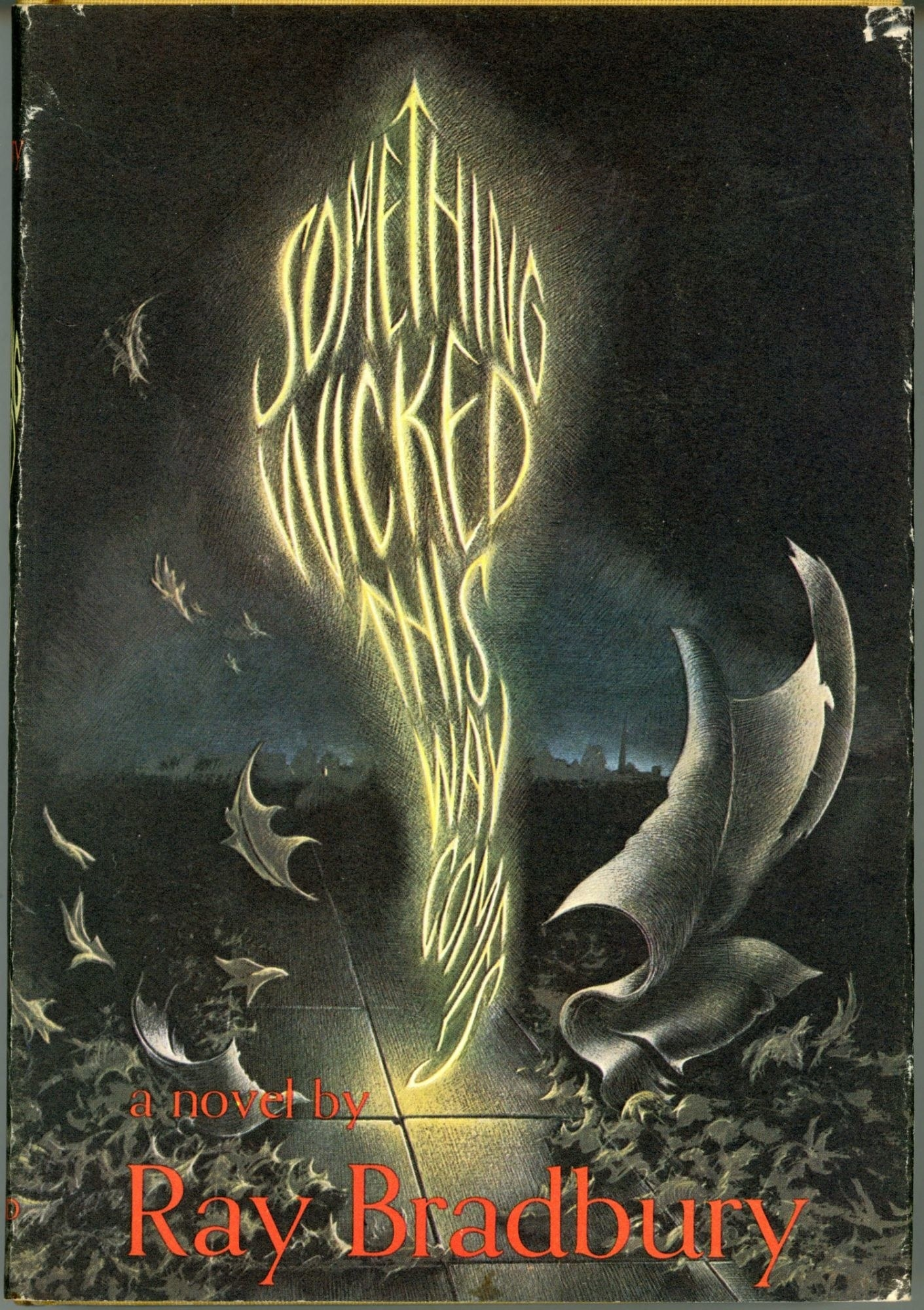 The book cover of Something Wicked This Way Comes by Ray Bradbury