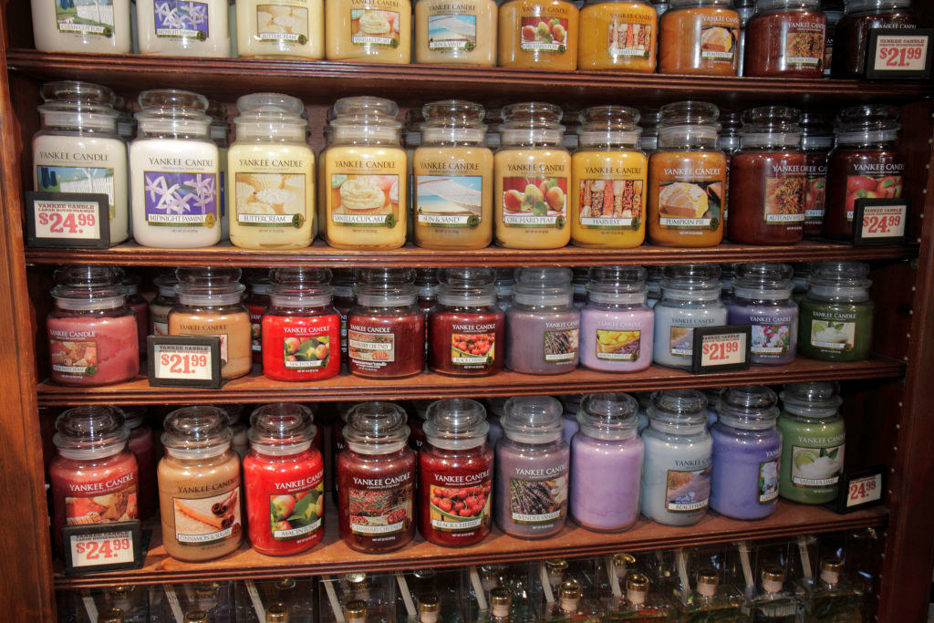A bunch of Yankee Candles