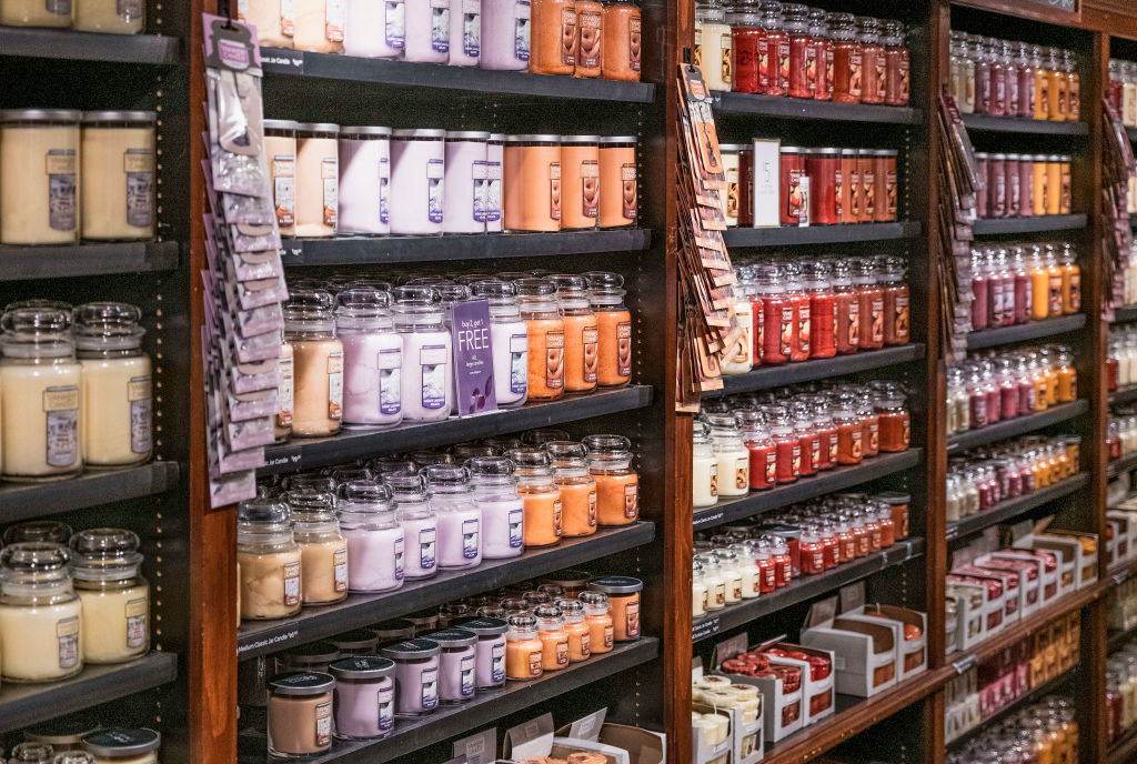 Rows upon rows of Yankee Candle