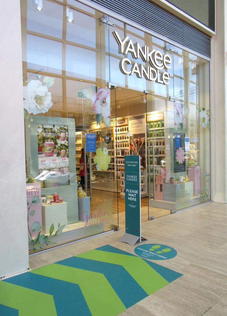 A Yankee Candle in the mall