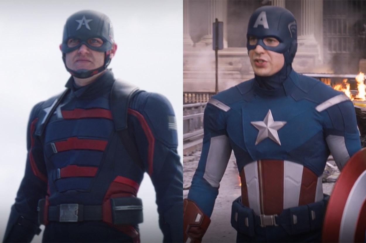 John's suit is much darker than Steve's
