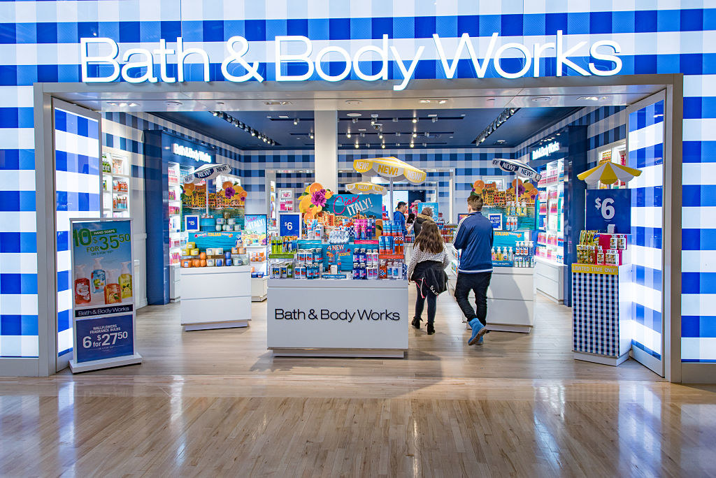 A Bath & Body Works at the mall