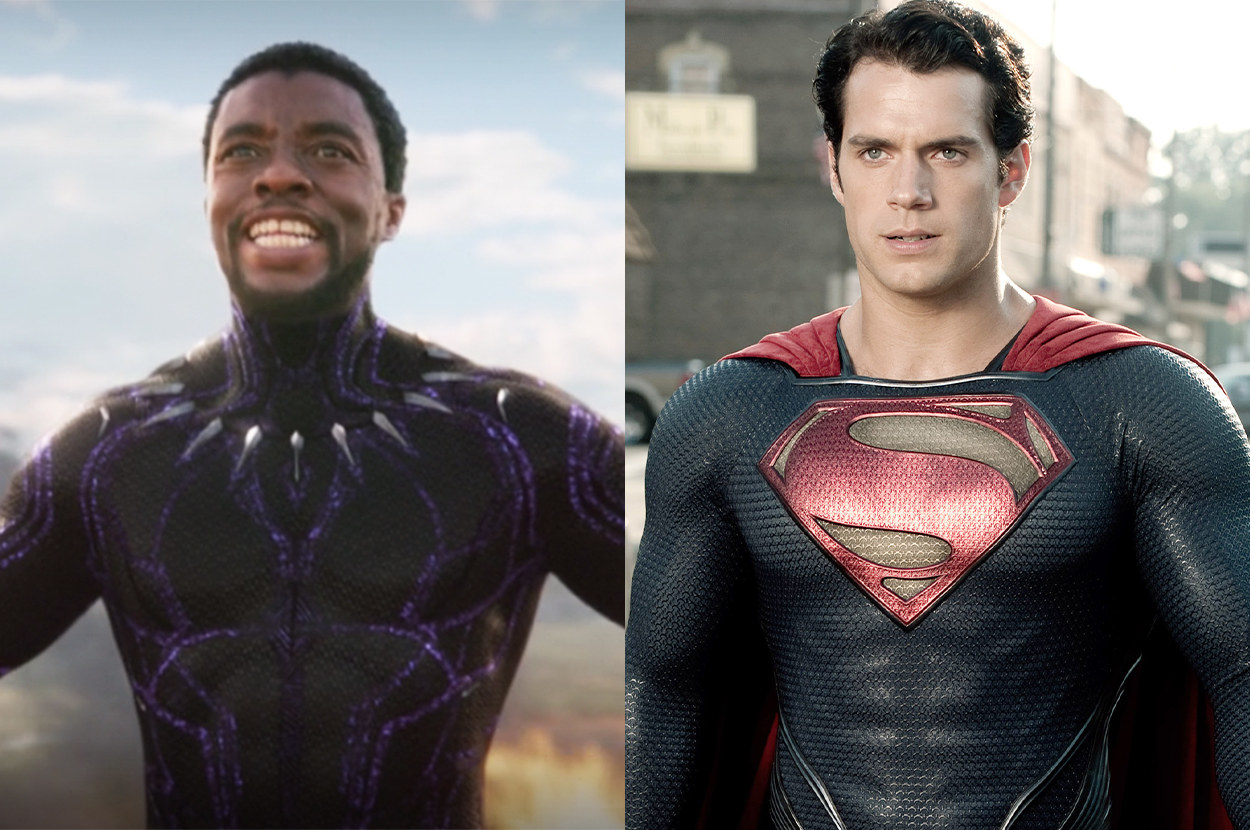 T'Challa and Superman both have tight-fitting suits with subtle metallic details