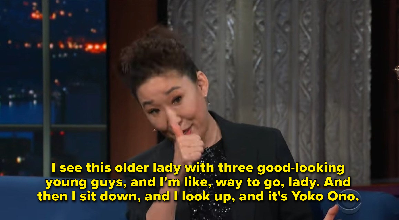 Sandra Oh says she met Yoko Ono