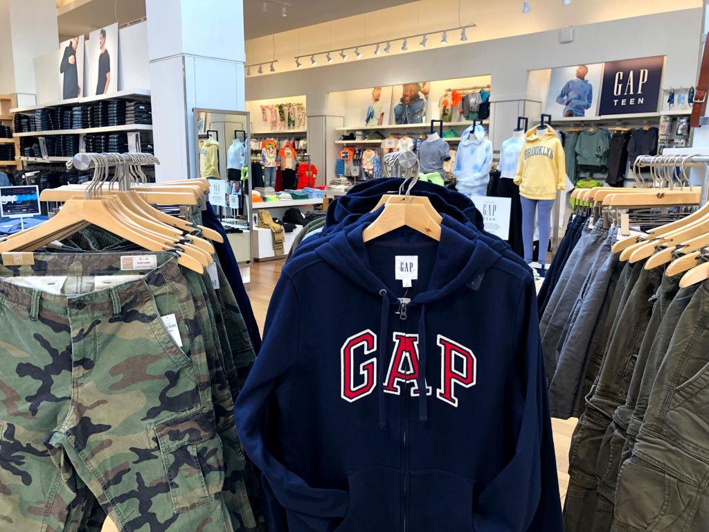 A Gap branded sweatshirt