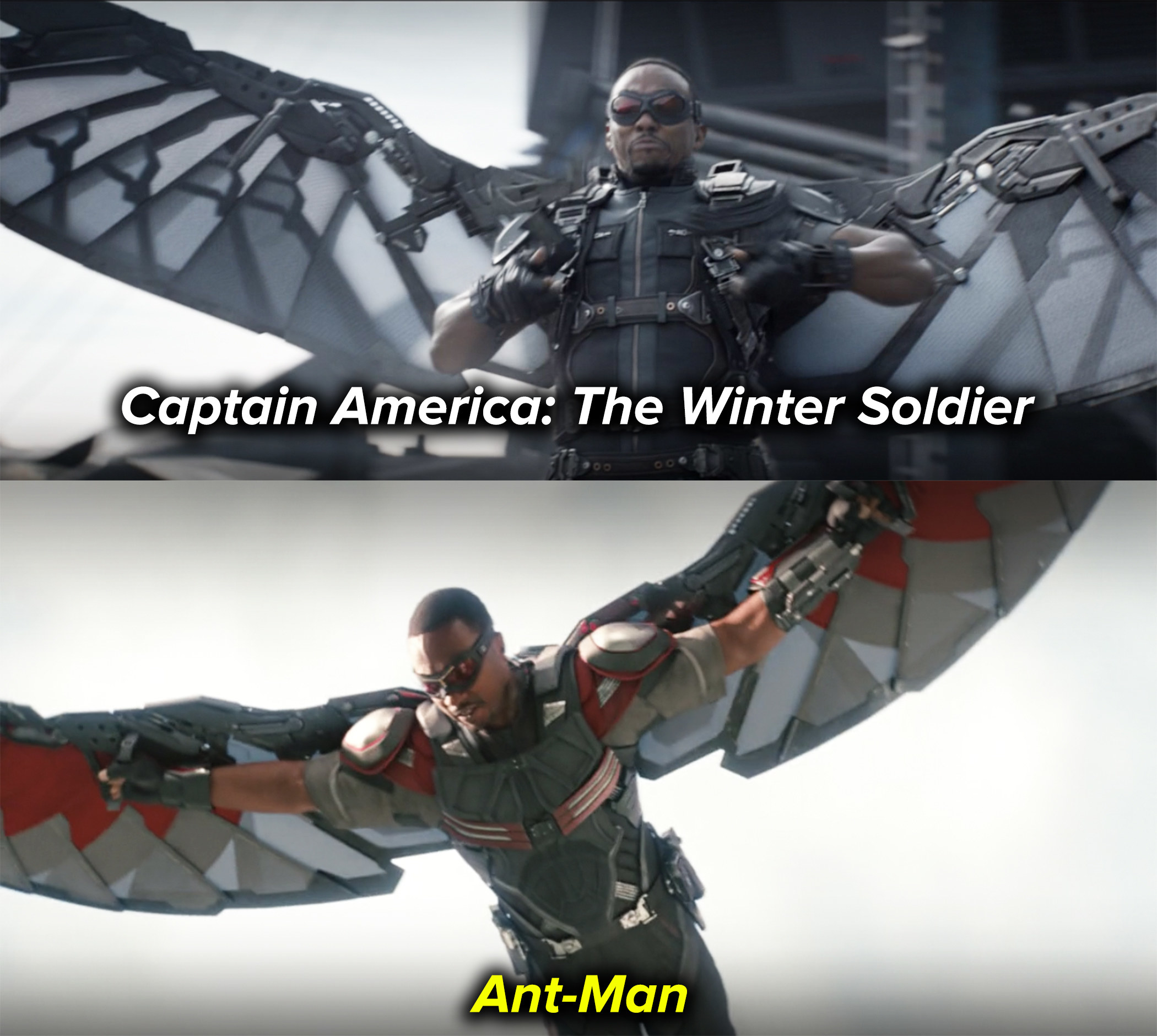 """Falcon's suit went under a significant redesign from """"Captain America: The Winter Soldier"""" to """"Ant-Man"""""""