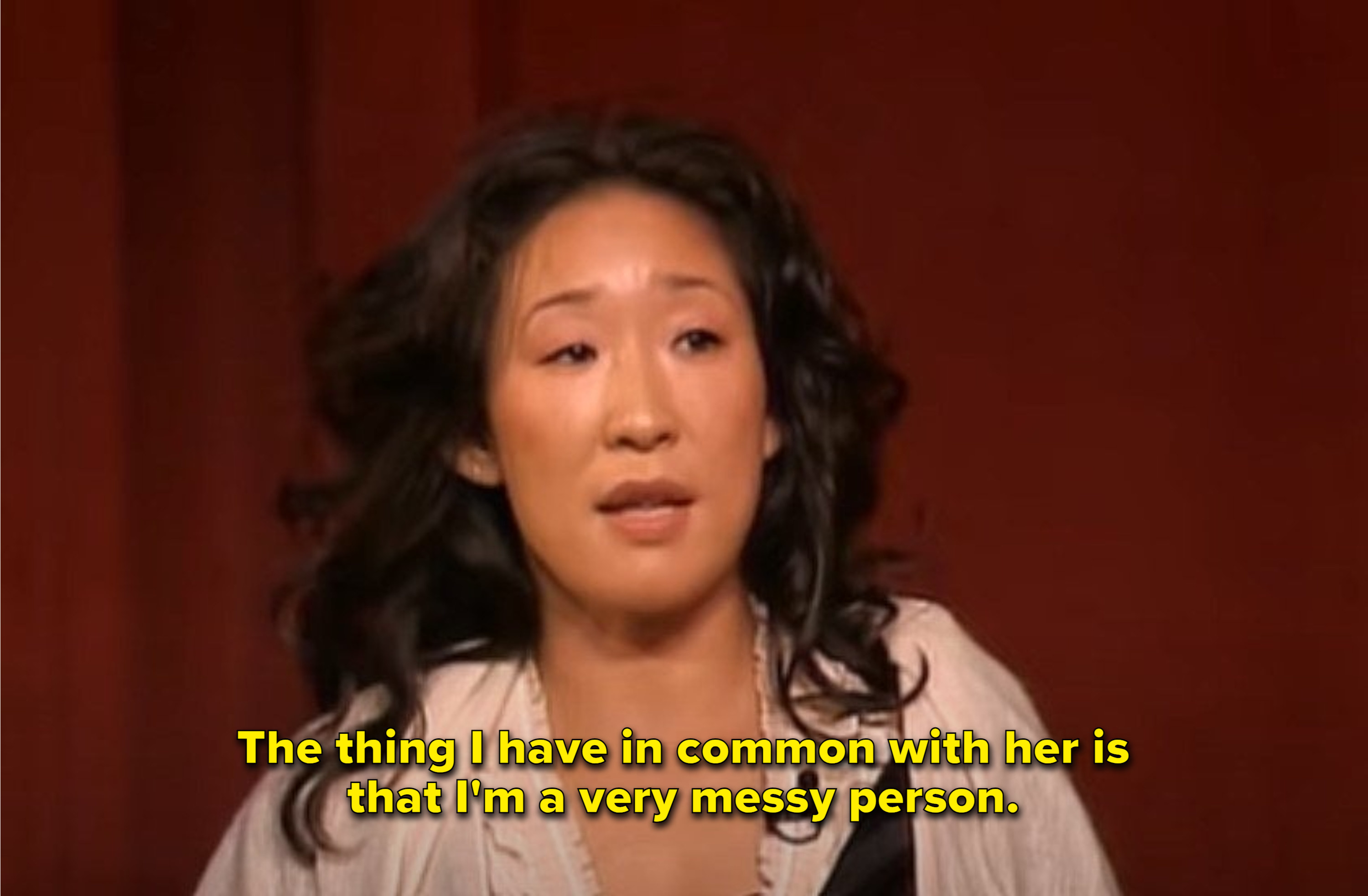 """Sandra Oh at PaleyFest: """"The thing I have in common with her is that I'm a very messy person"""""""