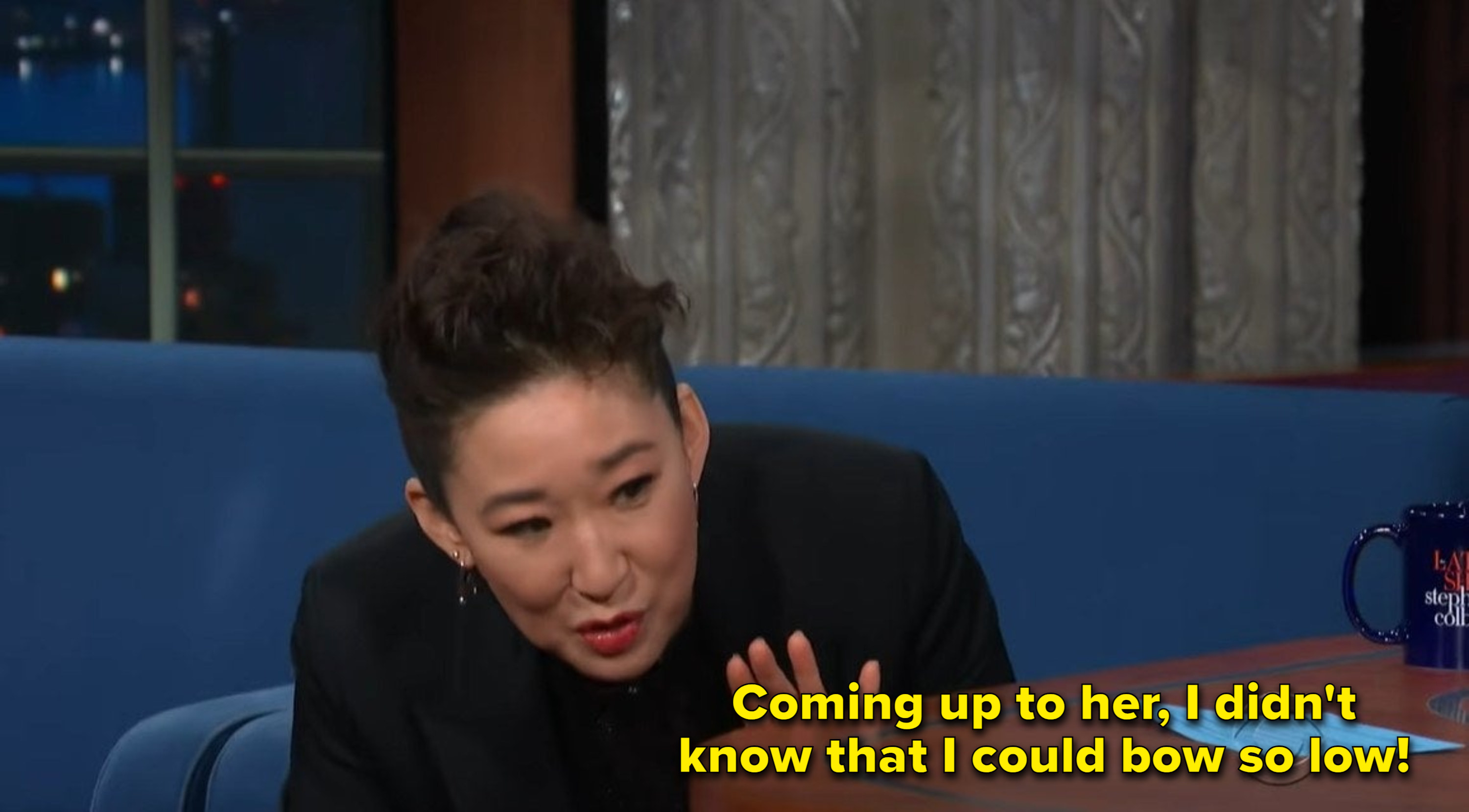 """Sandra Oh: """"Coming up to her, I didn't know that I could bow so low"""""""