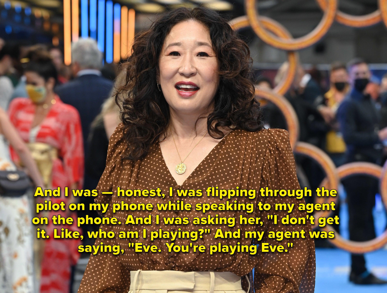 Sandra Oh at premiere