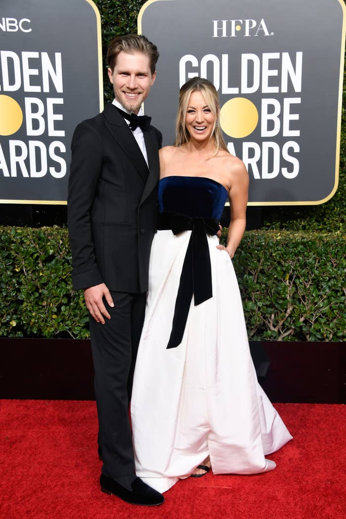 The couple on the Golden Globes red carpet