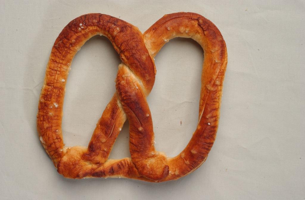 An Auntie Anne's pretzel