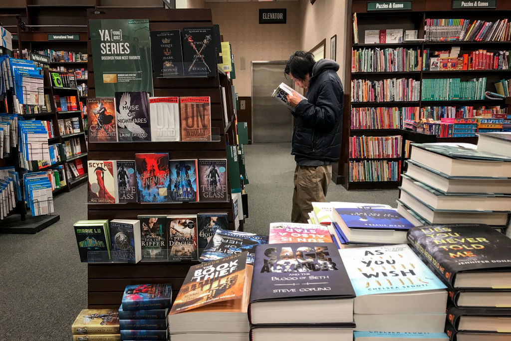 The YA section of Barnes and Noble