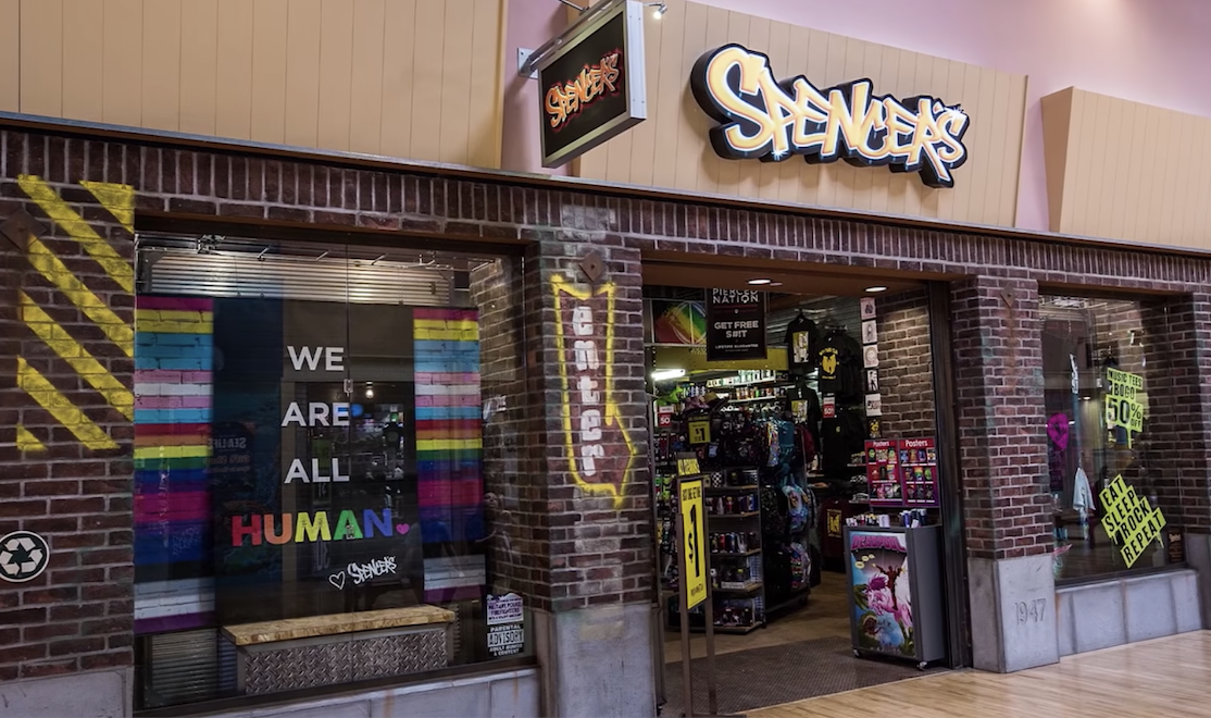 A Spencer's storefront