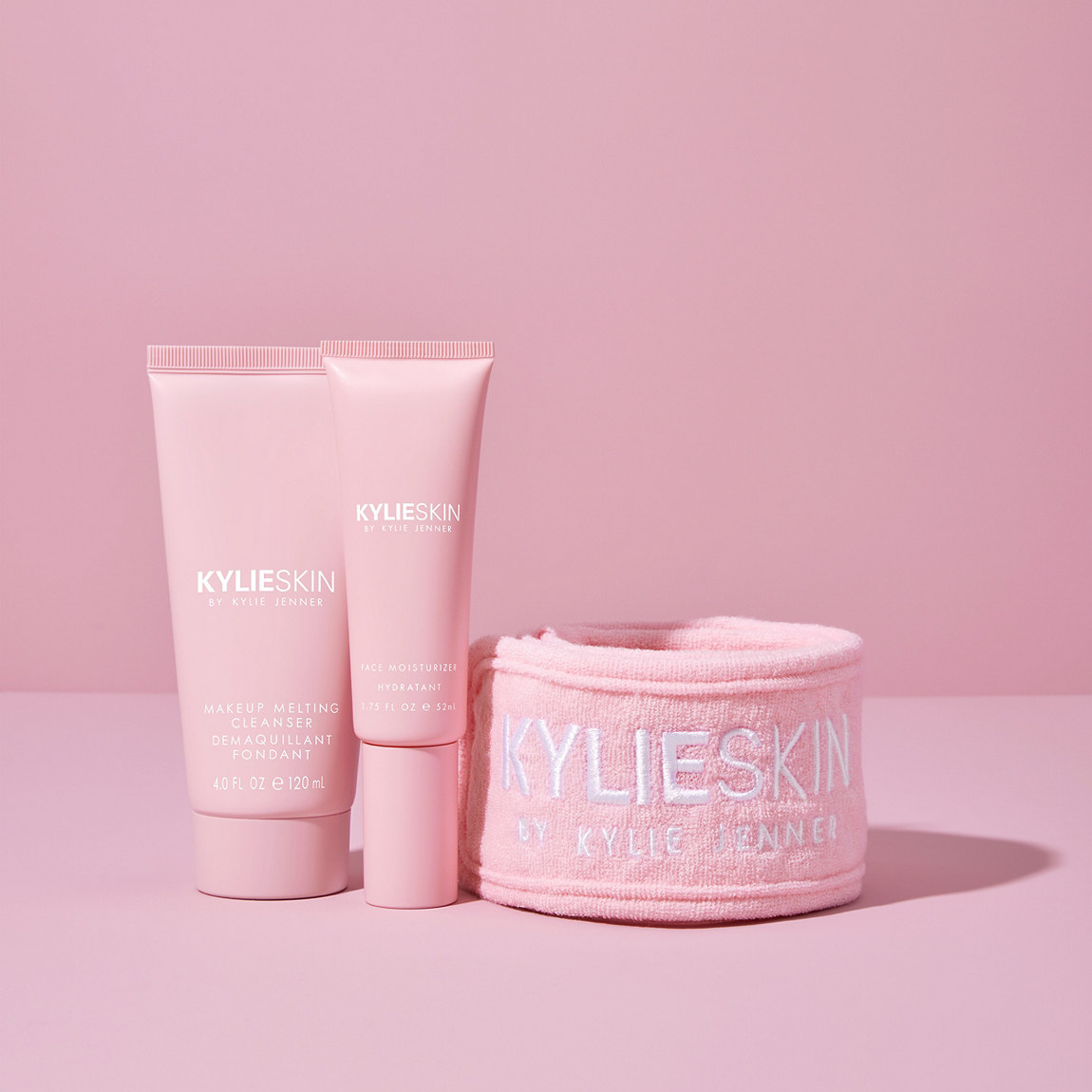 three pink kylie skin products