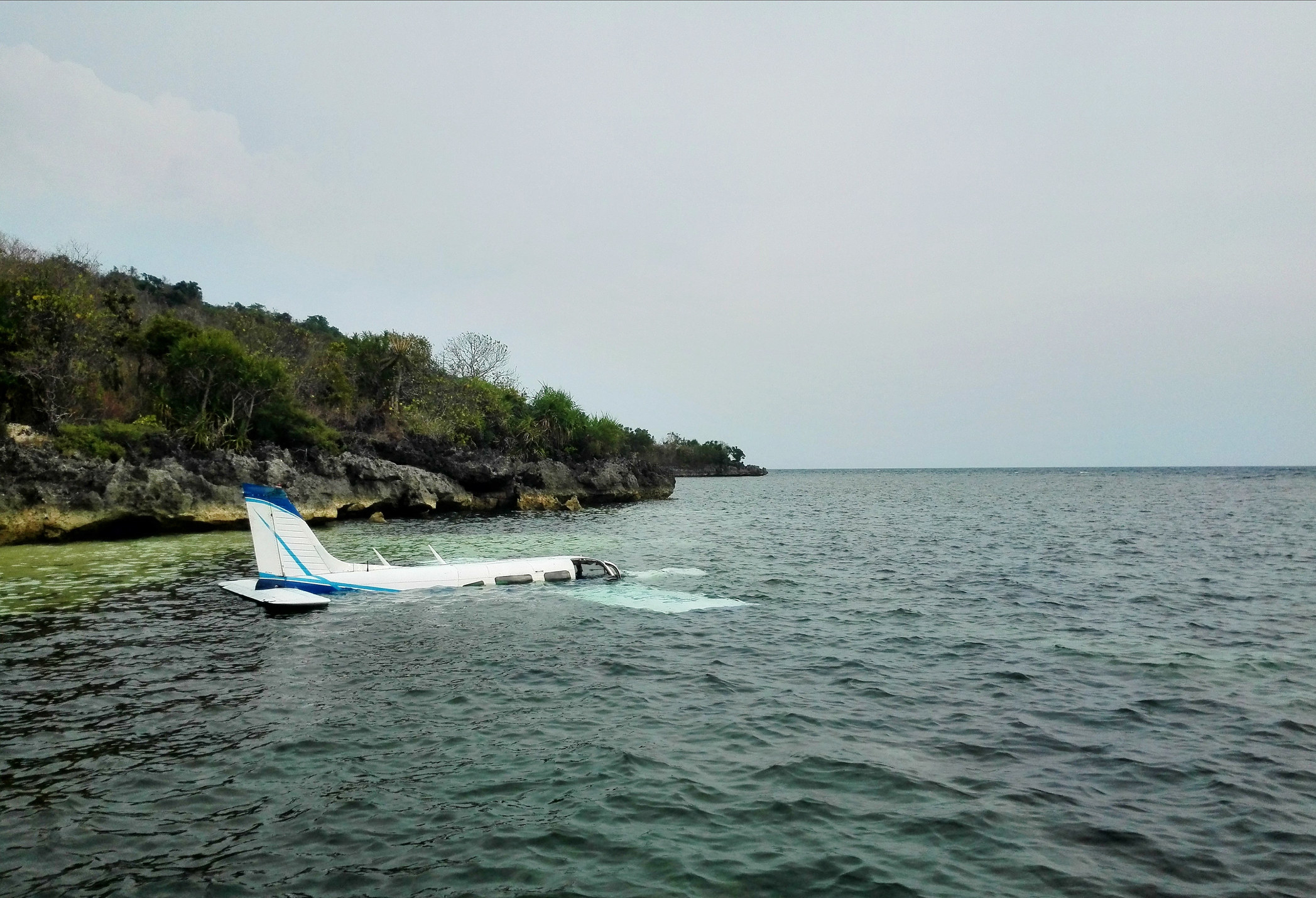 A plane crashed into the ocean