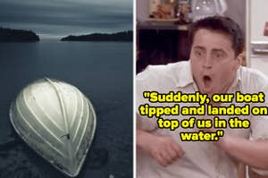An upside down boat and Joey from