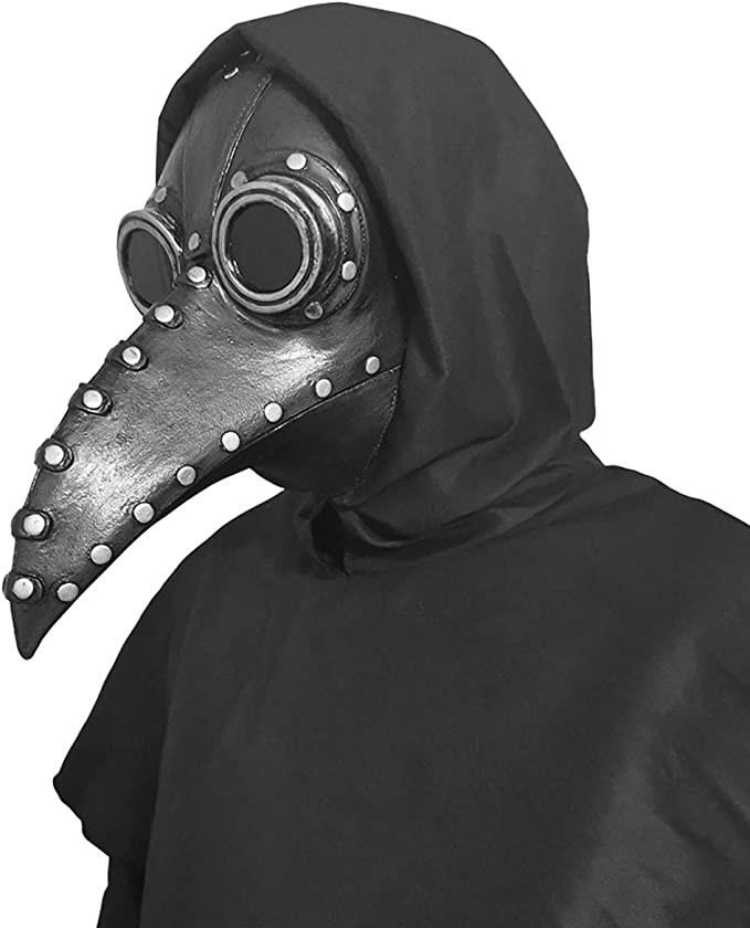 Máscara de látex estilo steampunk