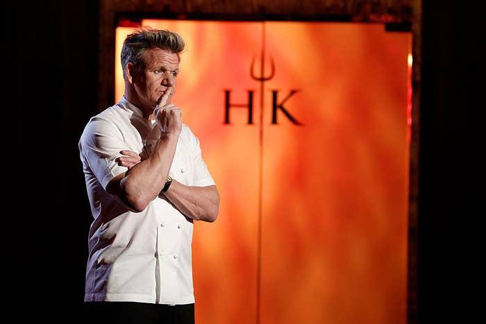 Gordon Ramsay on set of Hell's Kitchen