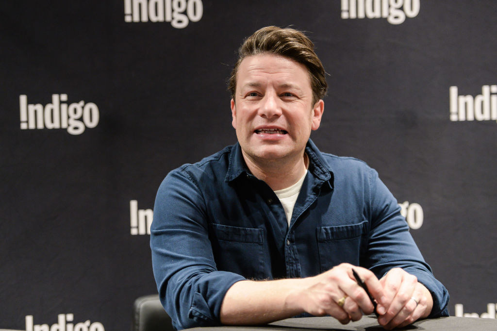 Jamie Oliver at a booksigning event