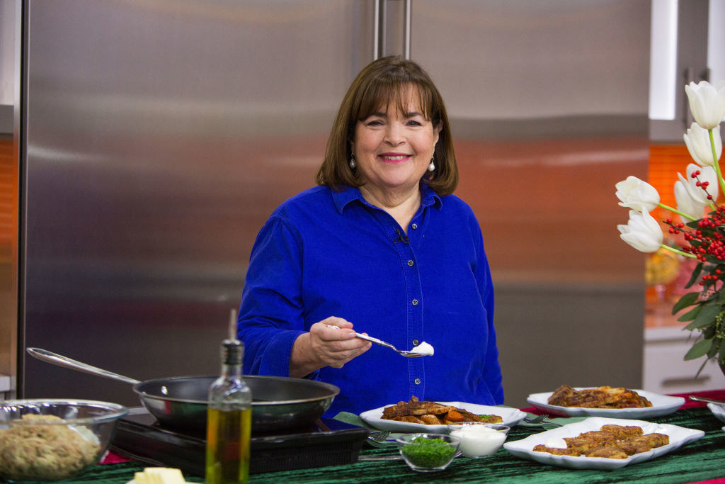 Ina Garden cooking during a television appearance