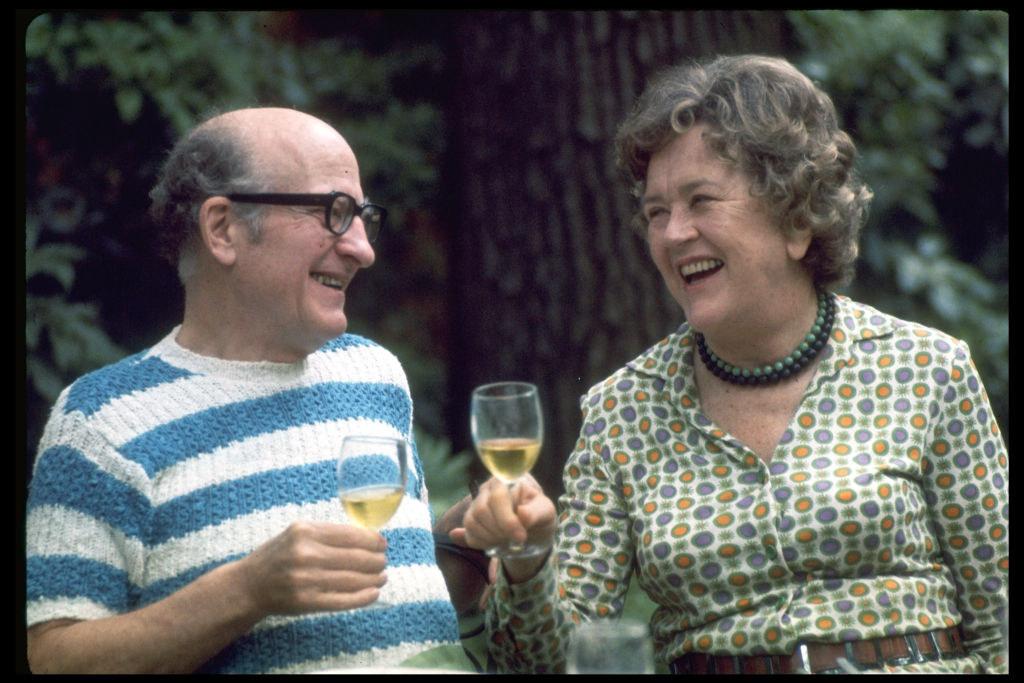 Paul and Julia enjoying a glass of wine together