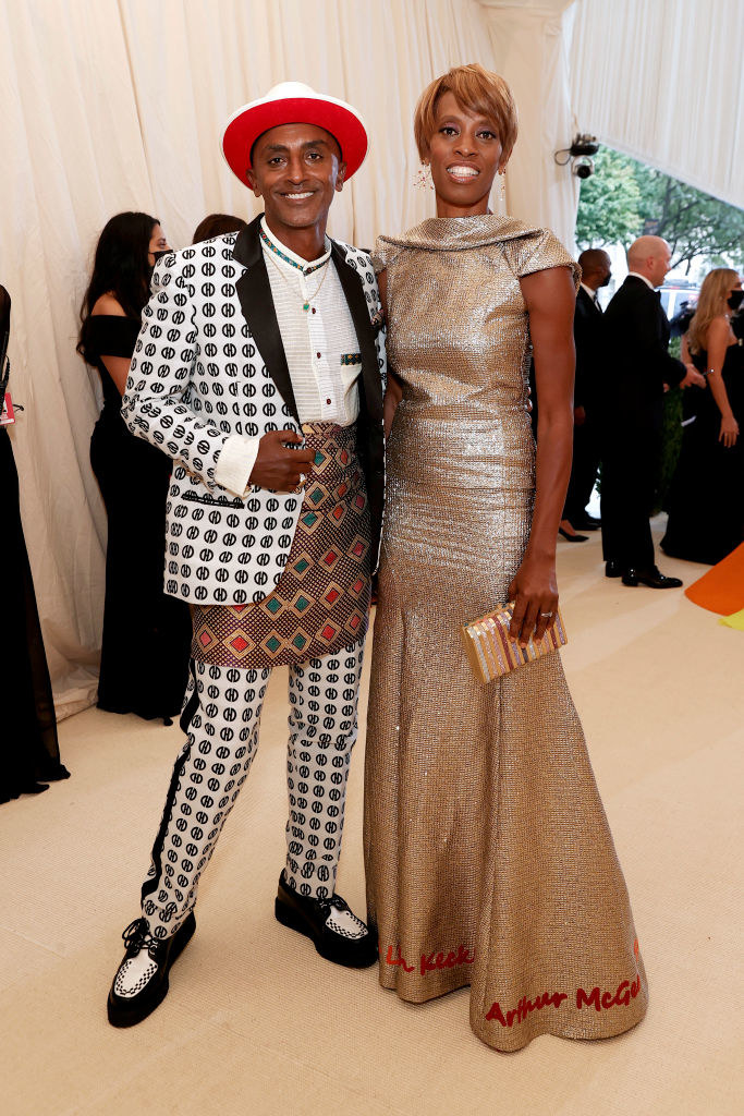 Samuelsson at the Met Gala with his wife