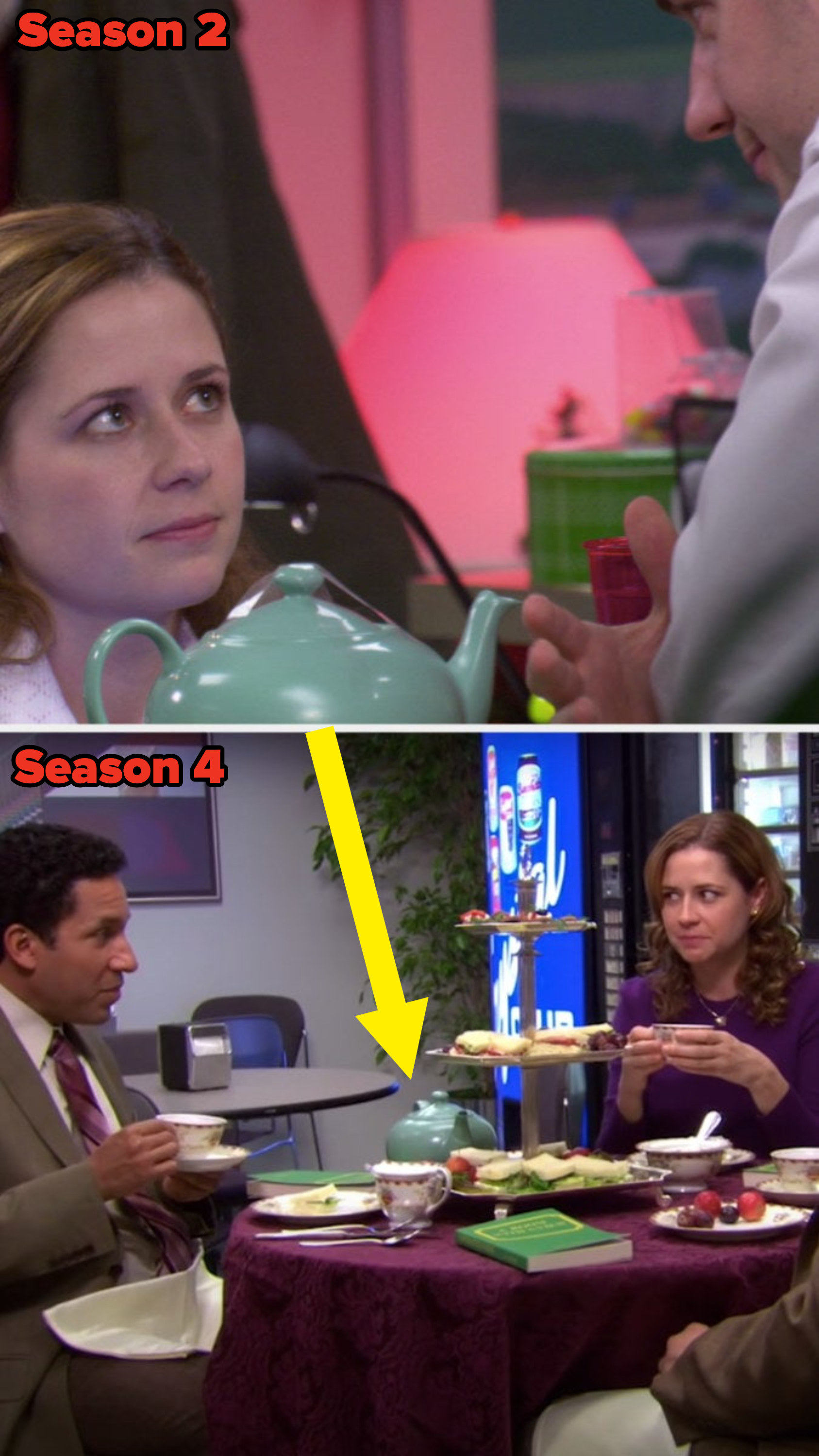 The teapot highlighted in different scenes