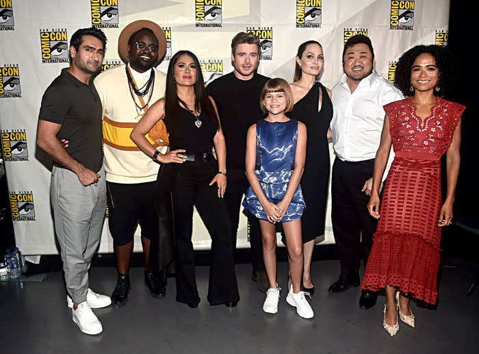 Salma Hayek and The Eternals cast at ComicCon