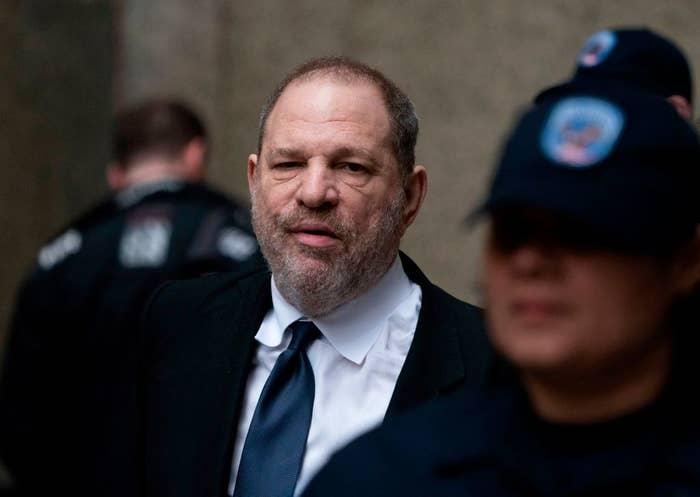 Harvey Weinstein in a suit