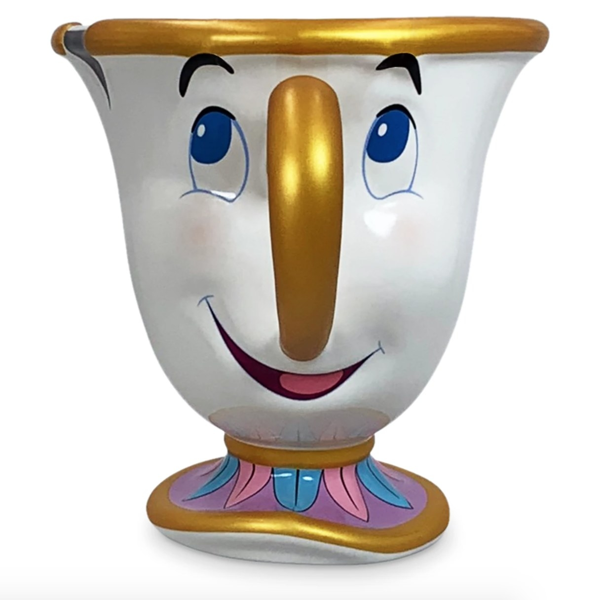 A mug shaped like Chip character from Beauty and the Beast