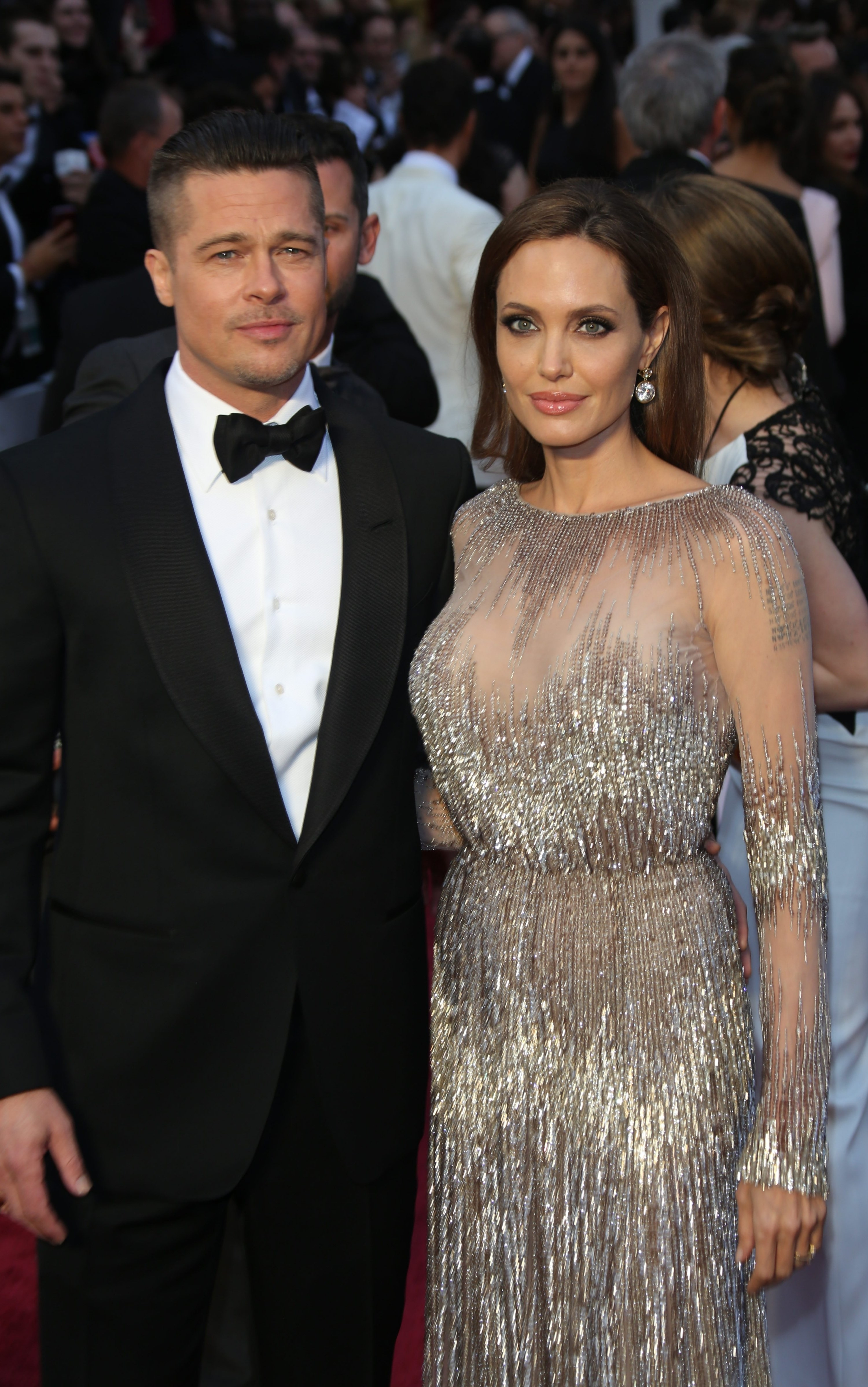 Brad and Angelina in formal attire