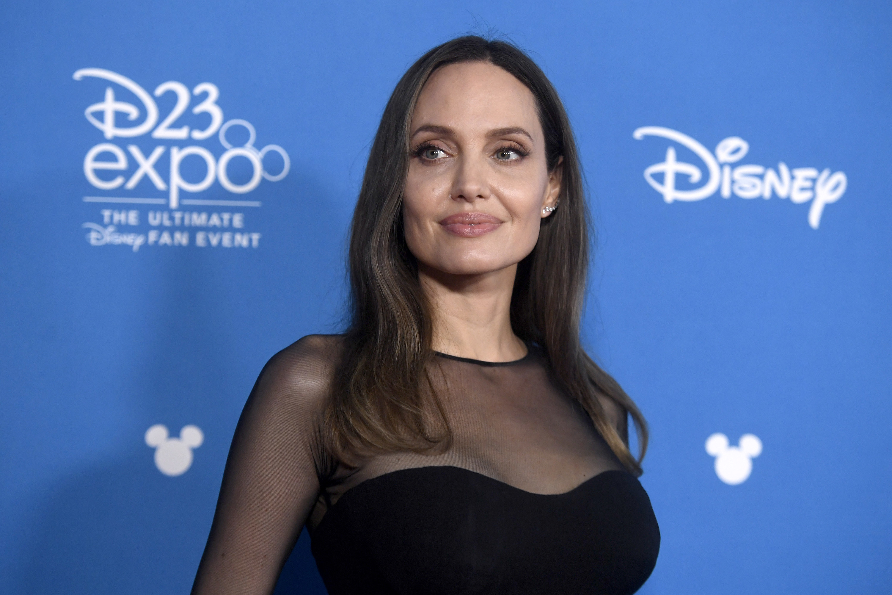 Angelina on the Disney red carpet