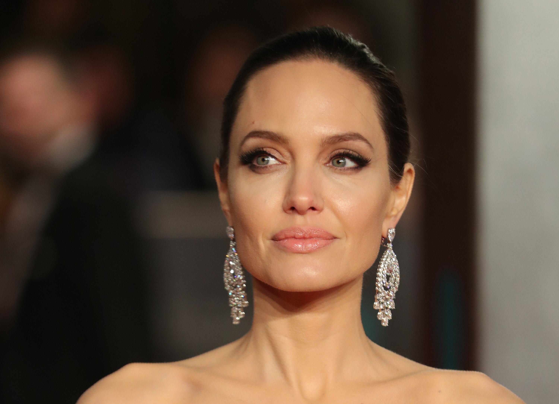 Angelina with dangly earrings