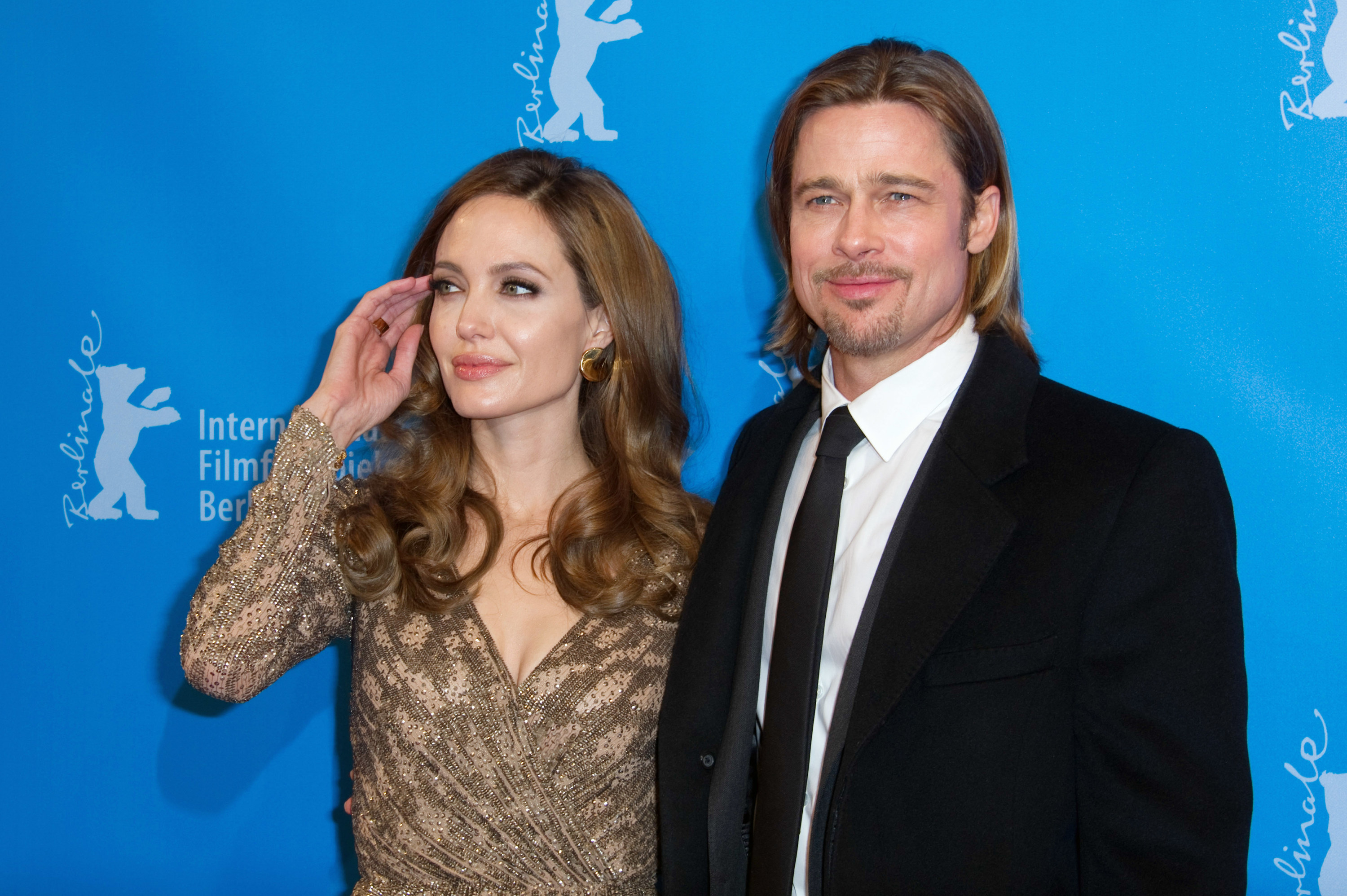 Angelina and Brad on the red carpet