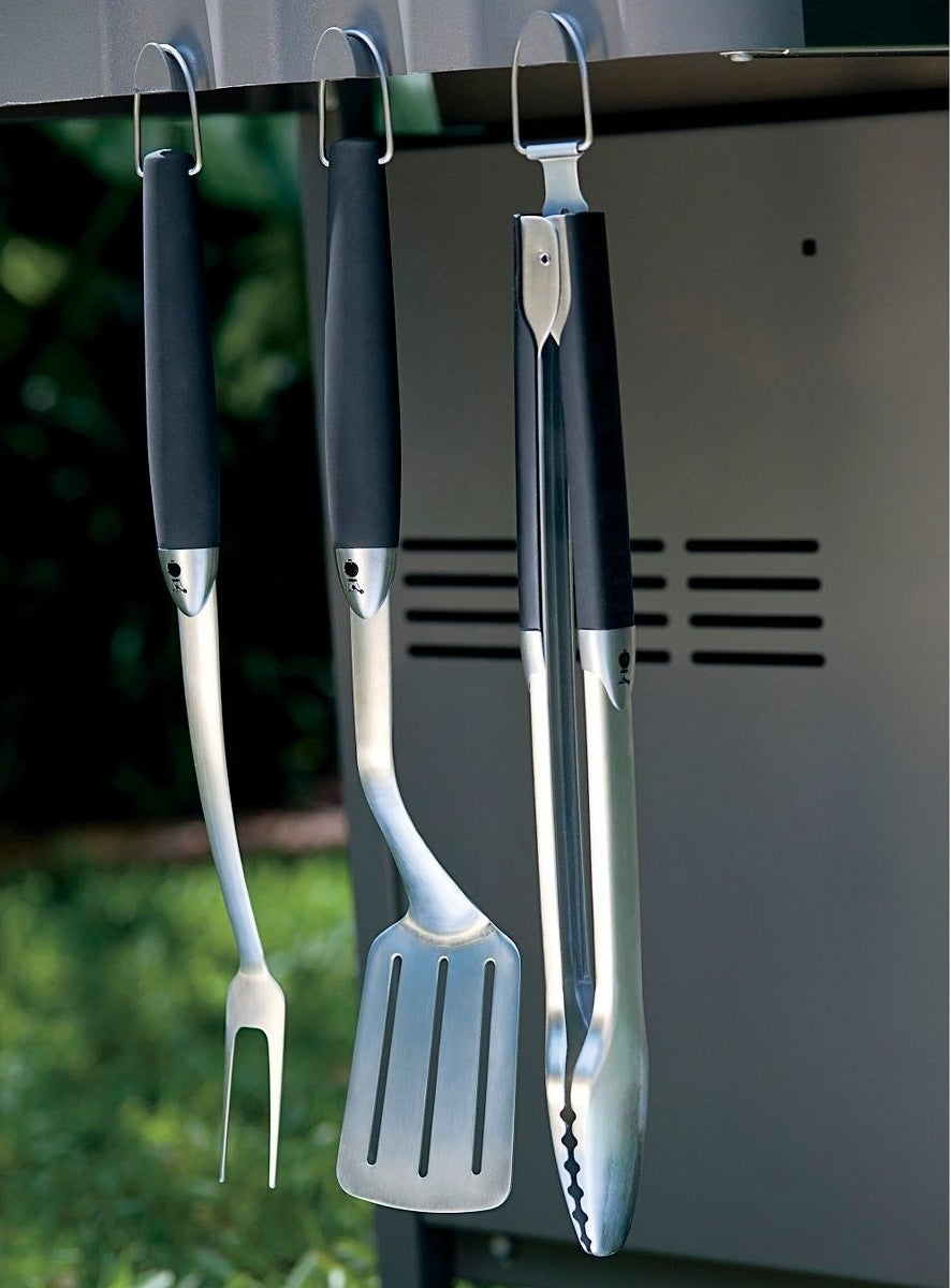 three barbecue tools