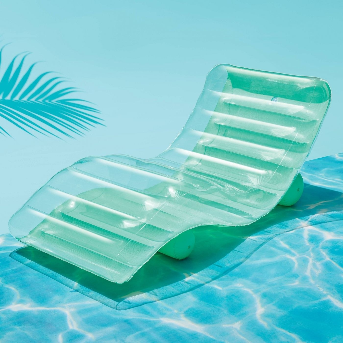 an inflatable pool chair