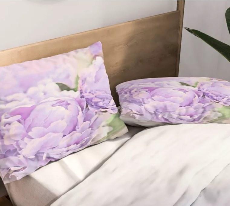 A lavender peonies pillowcase