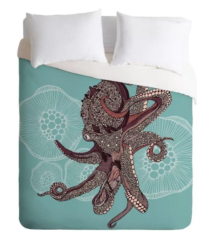 An octopus duvet cover