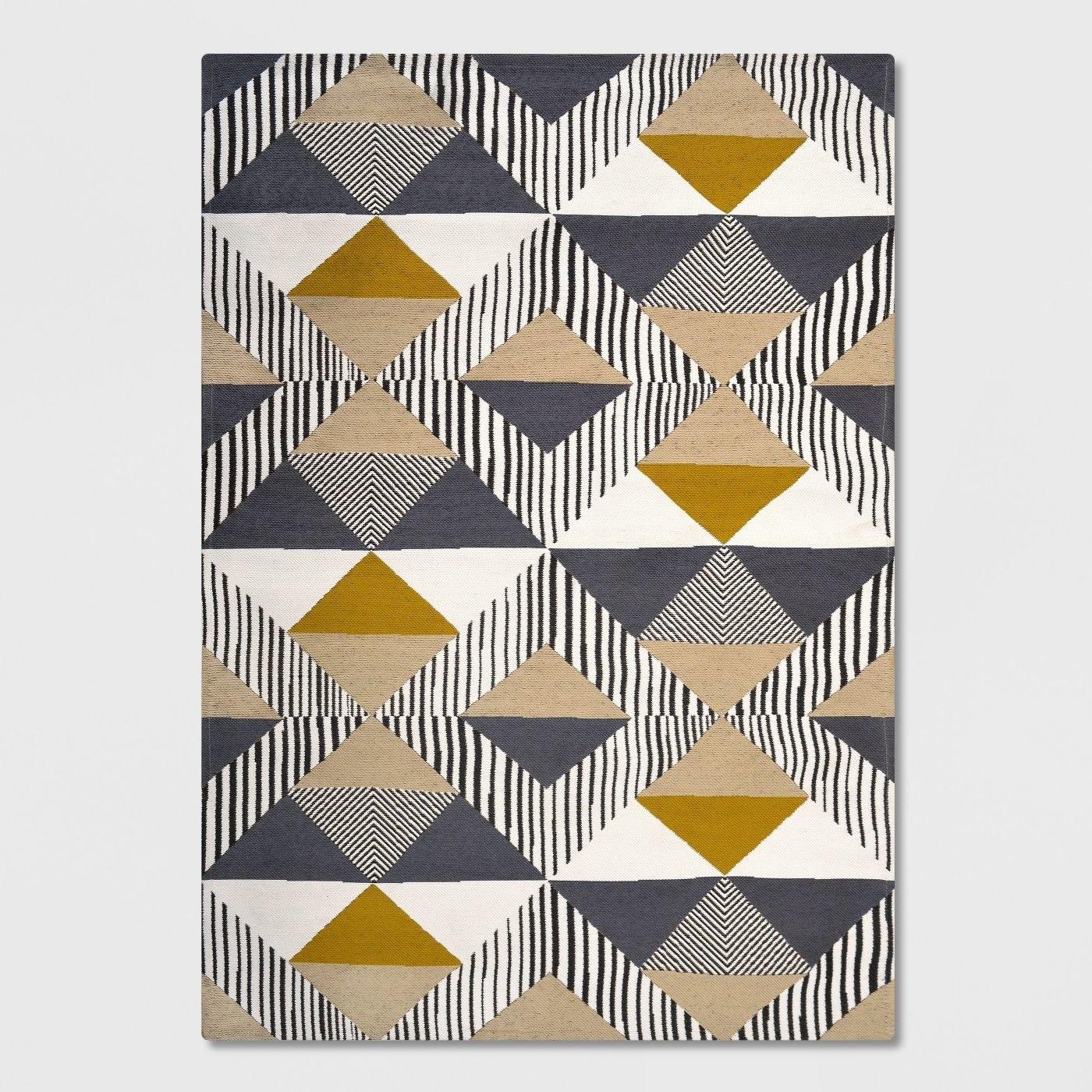 a geometric rug