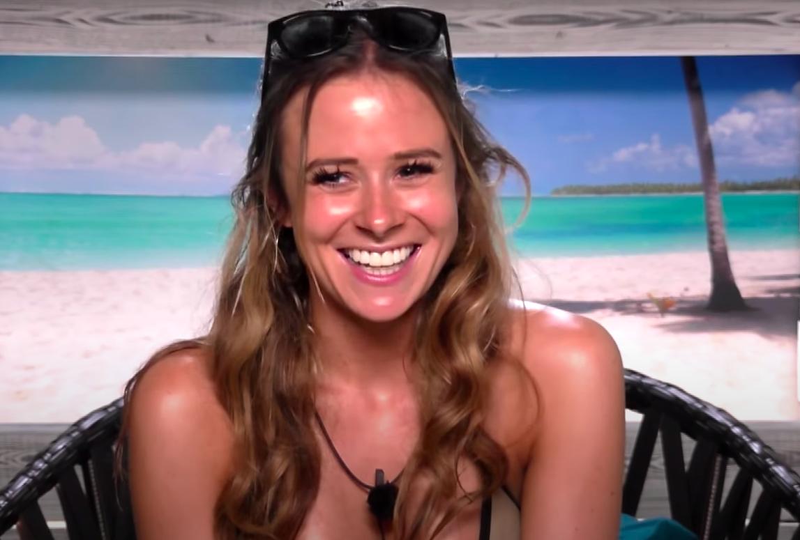 Camilla smiling in the Beach Hut