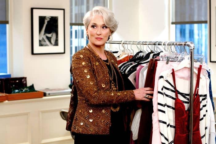 Meryl Streep (wearing a Bill Blass jacket)